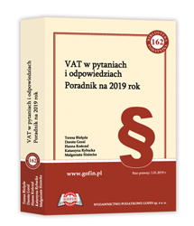 Książka VAT w pytaniach i odpowiedziach. Poradnik na 2019 rok