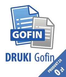 Program DRUKI Gofin - wersja niekomercyjna (darmowa)