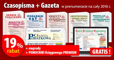 Wszystkie Czasopisma i Gazeta w prenumeracie na cały 2016 rok - Komplet promocyjny nr 1