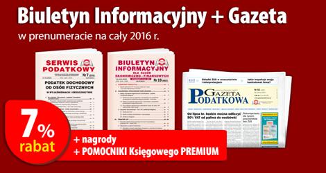 Biuletyn Informacyjny i Gazeta w prenumeracie na cały 2015 rok - Komplet promocyjny nr 3