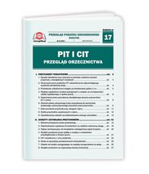PIT i CIT przegląd orzecznictwa