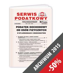 Serwis Podatkowy - Archiwum 2015