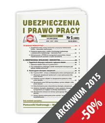 Ubezpieczenia i Prawo Pracy - Archiwum 2015