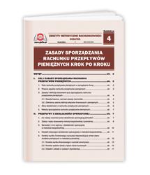 Zasady sporządzania rachunku przepływów pieniężnych krok po kroku