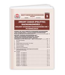 Zmiany zasad (polityki) rachunkowości... Krajowy Standard Rachunkowości nr 7 po nowelizacji