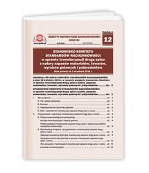 Stanowisko Komitetu Standardów Rachunkowości w sprawie inwentaryzacji drogą spisu z natury zapasów materiałów, towarów, wyrobów gotowych i półproduktów. Stan prawny na 1 września 2016 r.