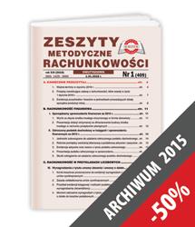 Zeszyty Metodyczne Rachunkowości - Archiwum 2015