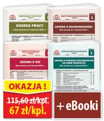 Pakiet 4 Ustaw + 4 eBooki - zestaw 4