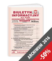 Biuletyn Informacyjny - Archiwum 2016