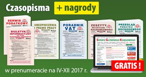 Wszystkie Czasopisma w prenumeracie na IV-XII 2017 rok - Komplet nr 2
