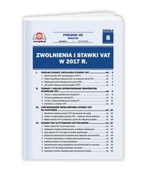 Zwolnienia i stawki VAT w 2017 r.