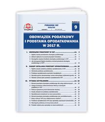 Obowiązek podatkowy i podstawa opodatkowania w 2017 r.