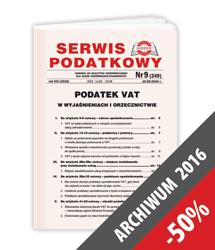 Serwis Podatkowy - Archiwum 2016
