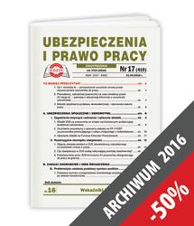 Ubezpieczenia i Prawo Pracy - Archiwum 2016