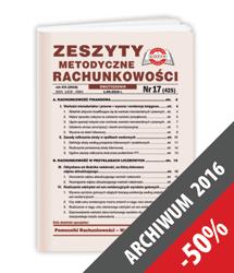 Zeszyty Metodyczne Rachunkowości - Archiwum 2016