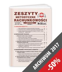 Zeszyty Metodyczne Rachunkowości - Archiwum 2017