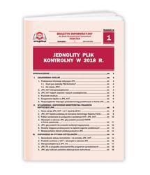 Jednolity Plik Kontrolny w 2018 r.