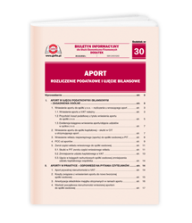 Aport - rozliczenie podatkowe i ujęcie bilansowe