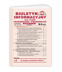 Biuletyn Informacyjny dla Służb Ekonomiczno-Finansowych