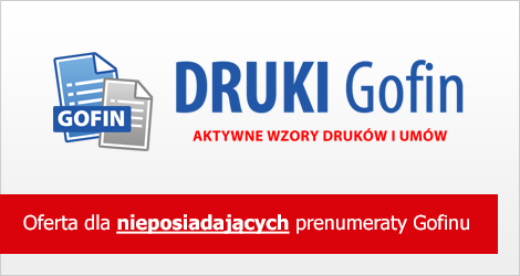 Program DRUKI Gofin - Dla nieposiadających prenumeraty Gofinu