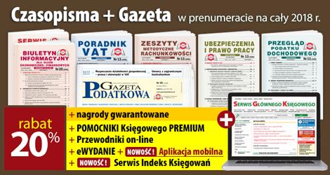 Wszystkie Czasopisma i Gazeta w prenumeracie na cały 2018 rok - Komplet promocyjny nr 1