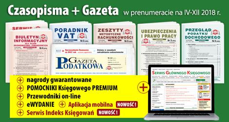 Wszystkie Czasopisma i Gazeta w prenumeracie na IV-XII 2018 rok - Komplet nr 1
