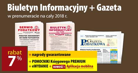 Biuletyn Informacyjny i Gazeta w prenumeracie na cały 2018 rok - Komplet promocyjny nr 3