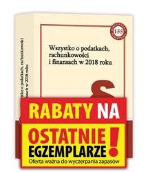 Książka Wszystko o podatkach, rachunkowości i finansach w 2018 roku