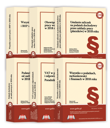 Publikacje książkowe - Biblioteka Podatnika - edycja 2018
