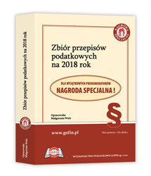 Zbiór przepisów podatkowych na 2018