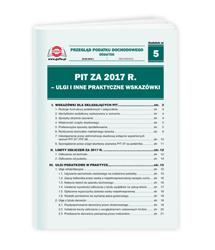 PIT za 2017 r. - Ulgi i inne praktyczne wskazówki