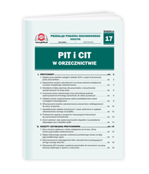PIT i CIT w orzecznictwie
