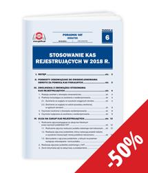 Stosowanie kas rejestrujących w 2018 r.