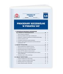 Procedury szczególne w podatku VAT