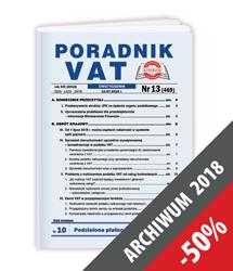 Poradnik VAT - Archiwum 2018