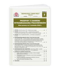 Przepisy z zakresu wynagradzania pracowników. Stan prawny na 1 kwietnia 2018 r.
