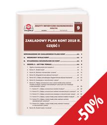 Zakładowy plan kont 2018 r. część I