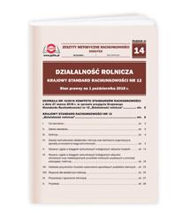 Działalność rolnicza. Krajowy Standard Rachunkowości nr 12. Stan prawny na 1 października 2018 r.