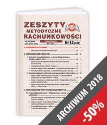 Zeszyty Metodyczne Rachunkowości - Archiwum 2018