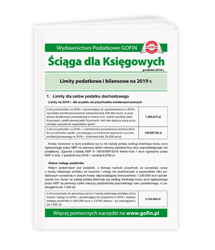 Limity podatkowe i bilansowe na 2019 r.