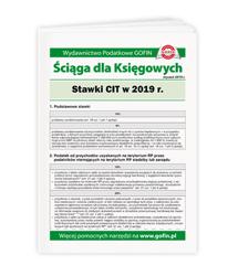 Stawki CIT w 2019 r.