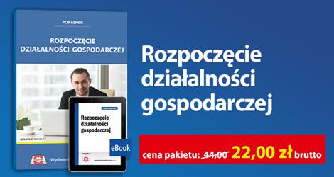 """Pakiet """"Rozpoczęcie działalności gospodarczej""""."""