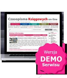Komplet Czasopisma Księgowych on-line - wersja demo dostęp za 0 zł