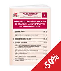 Klasyfikacja Środków Trwałych ze stawkami amortyzacyjnymi. Stan prawny na 1 lutego 2019 r.