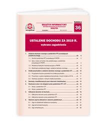 Ustalenie dochodu za 2019 r. - wybrane zagadnienia