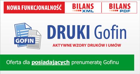 Program DRUKI Gofin - Dla posiadających prenumeratę Gofinu