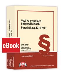 VAT w pytaniach i odpowiedziach. Poradnik na 2019 rok - eBook