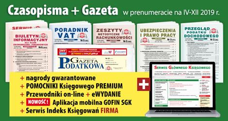 Wszystkie Czasopisma i Gazeta w prenumeracie na IV-XII 2019 rok - Komplet nr 1