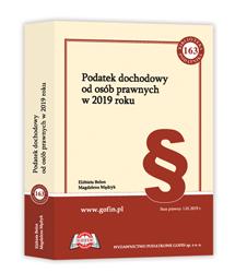 Książka Podatek dochodowy od osób prawnych w 2019 roku