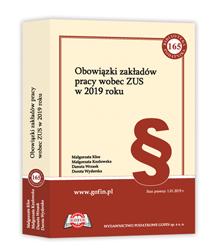 Książka Obowiązki zakładów pracy wobec ZUS w 2019 roku